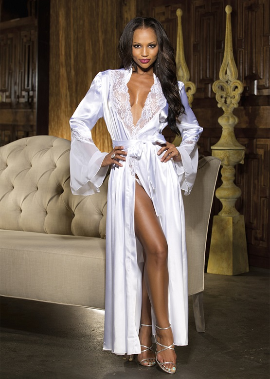 Long Robe With Long Bell Sleeves By Shirley