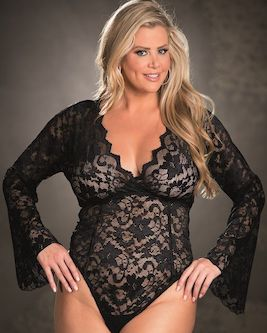 Plus Size Teddy Lingerie