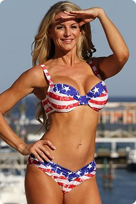 USA Stars & Stripes Bathing Suits