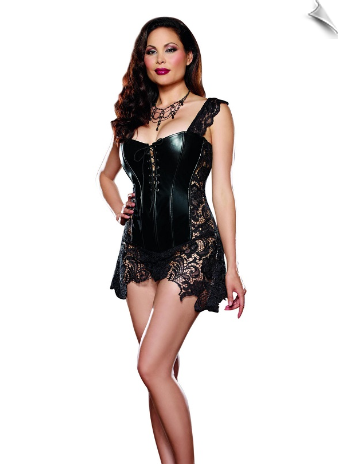 Stunning Lace & Leather Bustier