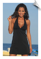 Black halter sundress