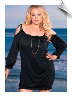 Plus Size Off Shoulder Dress from Intimate Attitudes