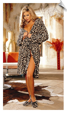 Luxurious & Fluffy Animal Print Robe