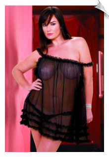 Sheer Mesh & Ruffle Baby Doll