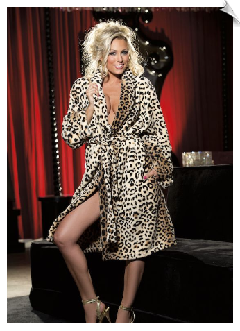 Luxurious Leopard Robe