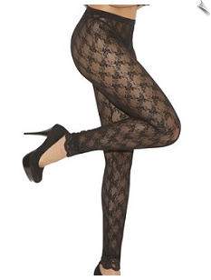 Fancy Floral Lace Tights