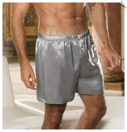 Short Charmeuse Button Boxers