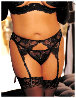 Adjustable Floral Lace Garter Belt
