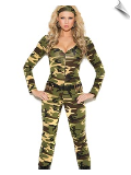 Combat Warrior Camouflage Jumpsuit with Fixin's