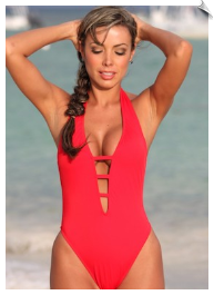 Flashy Straps One Piece