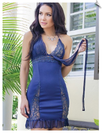Naughty Blue Negligee