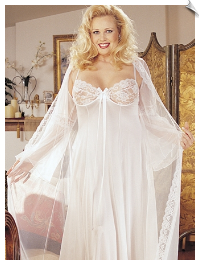 Luxurious Long Peignoir