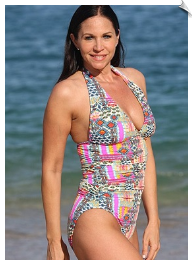 Multicolored Scrunch Swimsuit