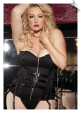 Buckle Me Up Zippered Bustier Top & Pantie