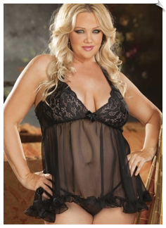 Sassy Lace Cup Babydoll