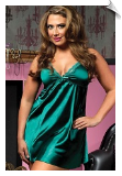 Flawless Satin & Lace Neckline Nightgown