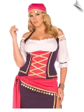Fancy Five Piece Gypsy Maiden Costume