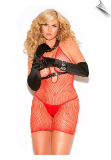 Diamond Shape Fishnet Vivace Chemise Dress