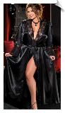 Long & Silky Charmeuse Lounge Robe