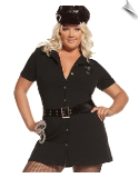 Lady Police Officer Dress-Up with Hat & Handcuffs