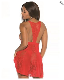 Chic V Lace Negligee