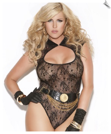 Snazzy Sheer Lace Teddy
