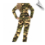 Skintight and body lovin' camouflage jumpsuit for hide-n-seek and playful play