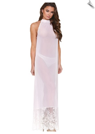 Enchanting Hi-Neck Nightgown