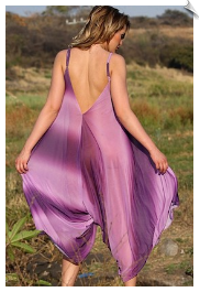 Almost Purple Romper Dress