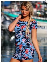 Tropical T Shape Dress
