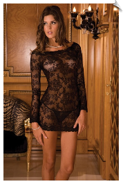 Sexy Sleeved Chemise